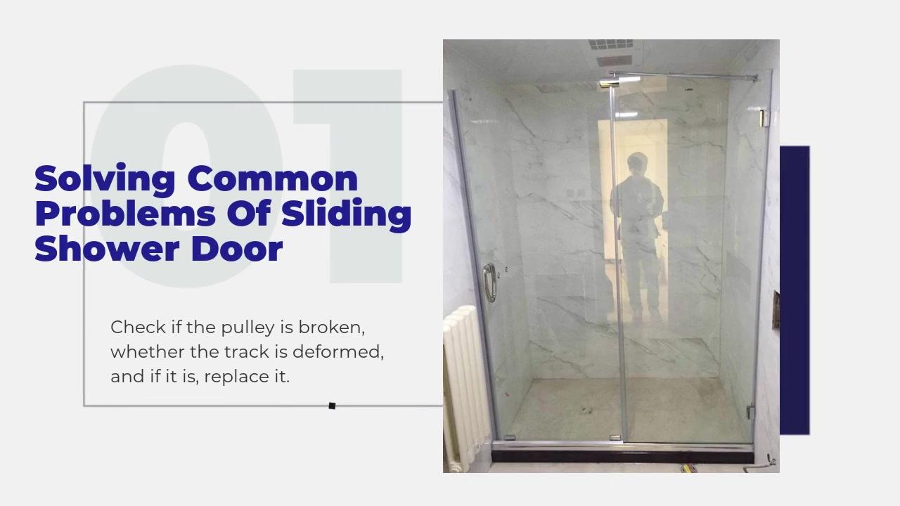 Résoudre les problèmes courants de portes de douche coulissantes