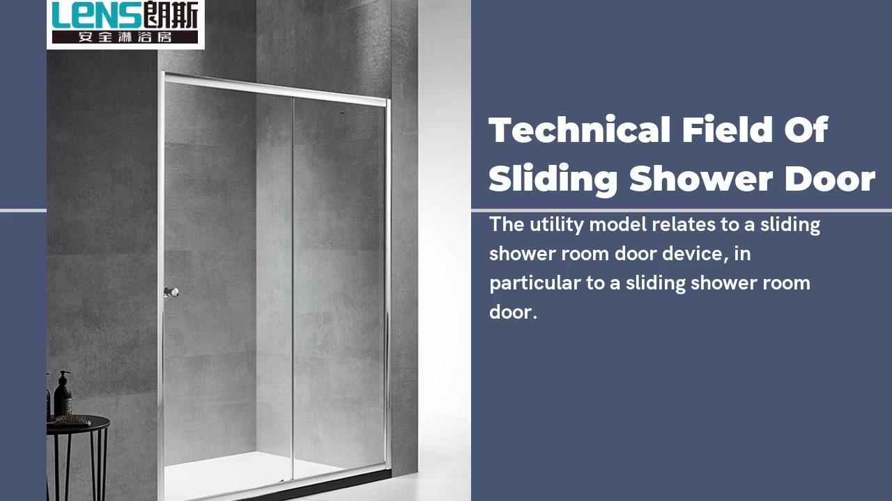 Campo técnico da porta do chuveiro de vidro deslizante