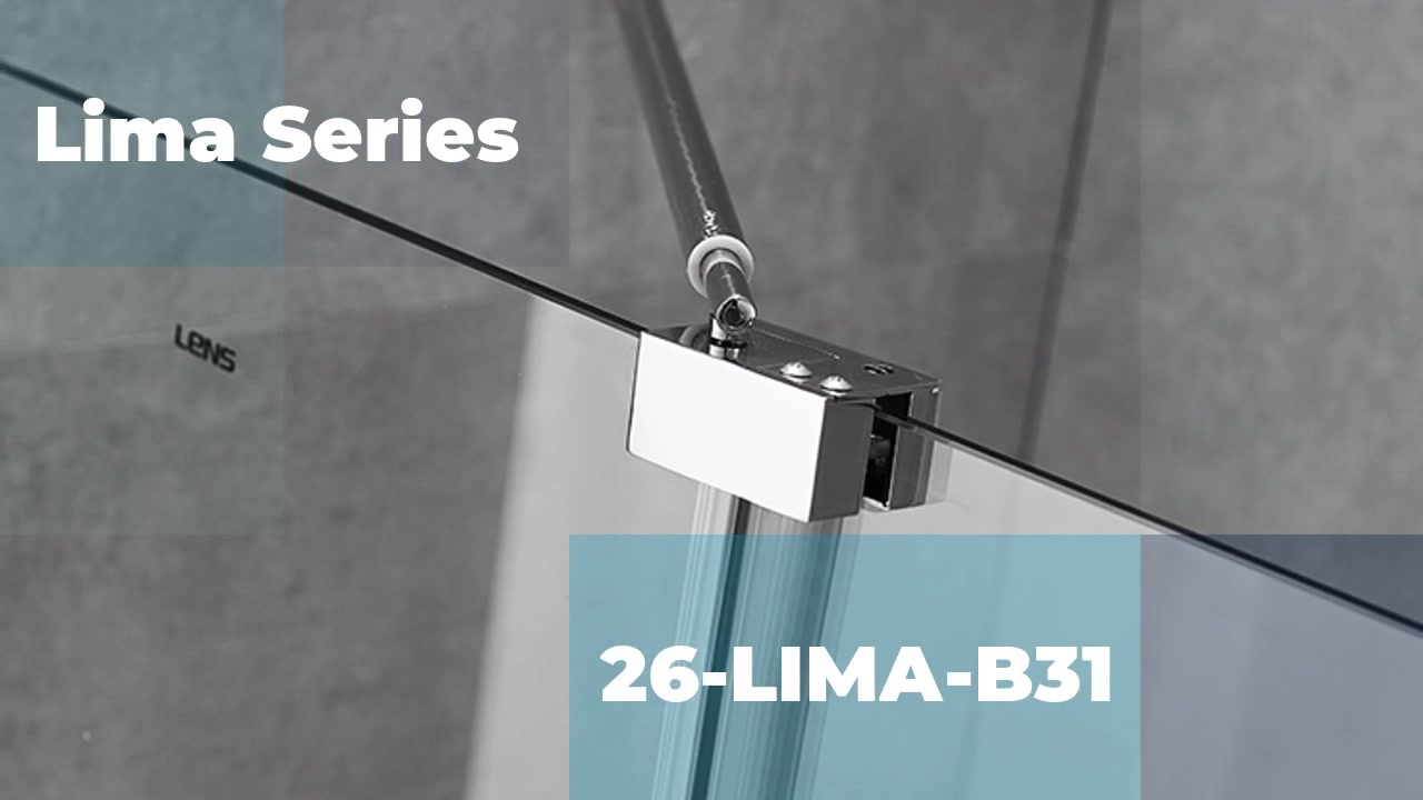Best Lima Series B31 304 stainless steel 8 glass thickness shower door