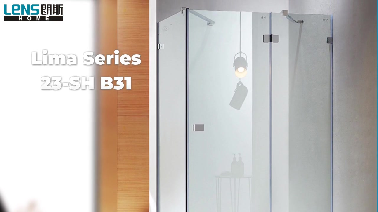 Lima Series SH B31 304 stainless steel support bar and handle frameless series shower door