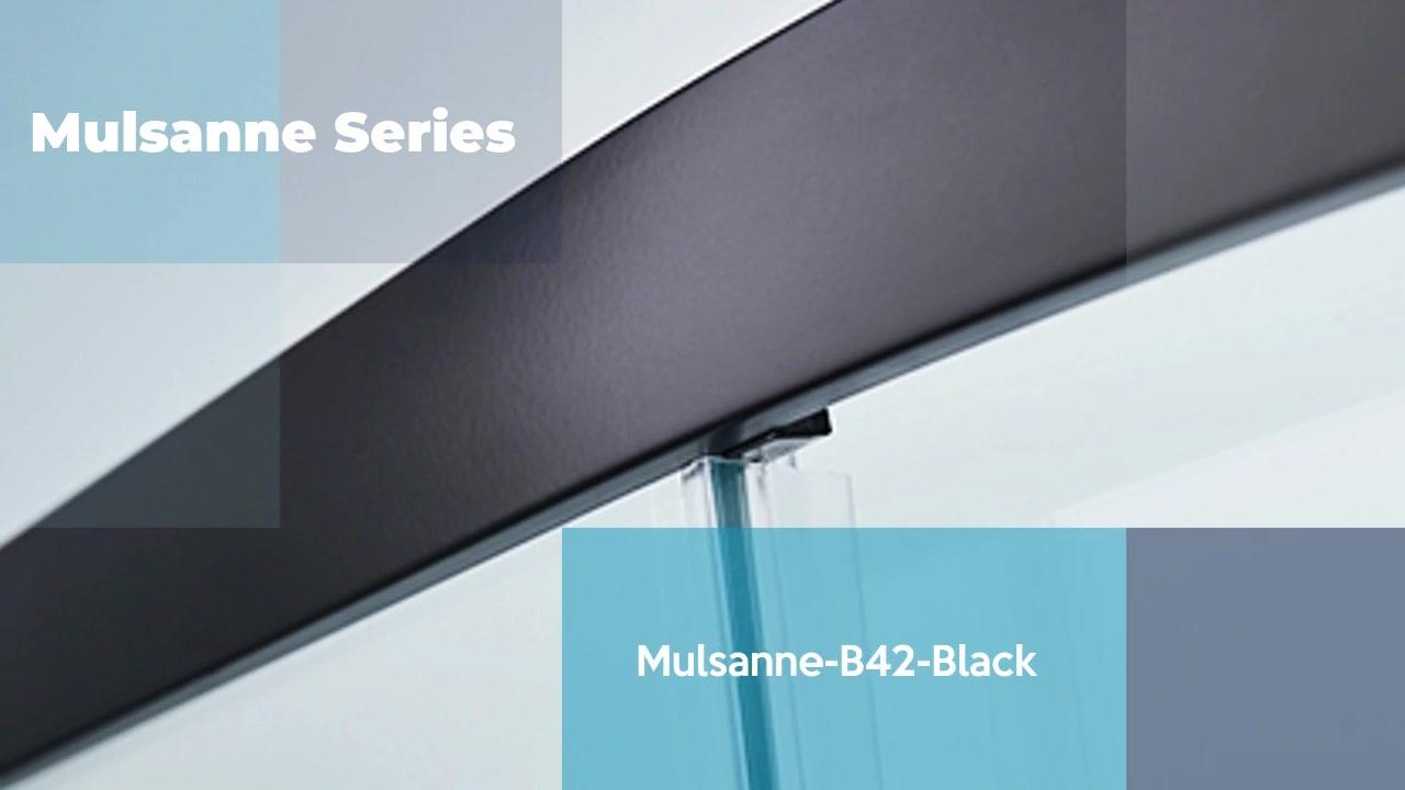 Mulsanne-B42-Black frame aluminum alloy 6mm glass thickness shower door
