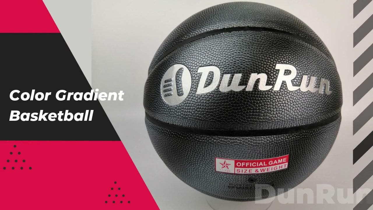 DunRun High Quality Low MOQ Color Gradient Basketball