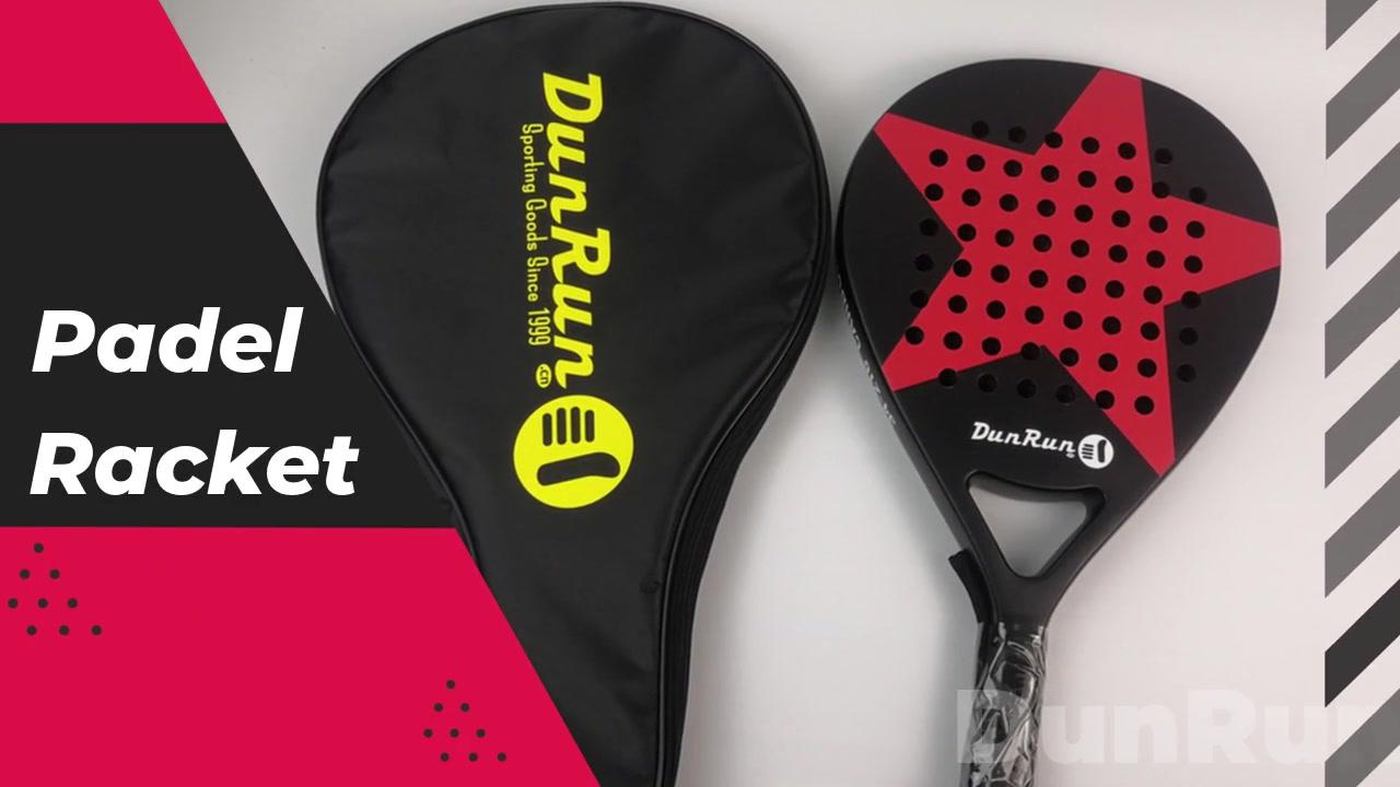 Dunrun углеродное волокно на заказ дизайн Padel Racket профессиональный логотип