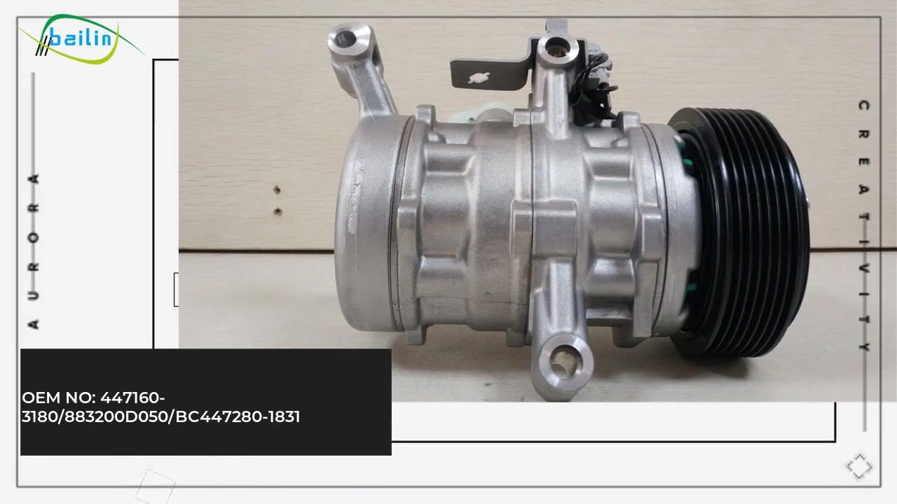 Mataas na kalidad Auto AC Compressoor para sa Toyota Etios 1.5 Petrol 447160-3180 / 883200D050 / BC447280-1831