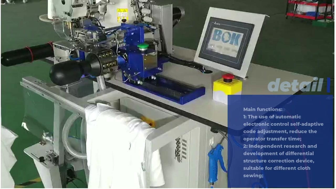 Hem sewing machine operation
