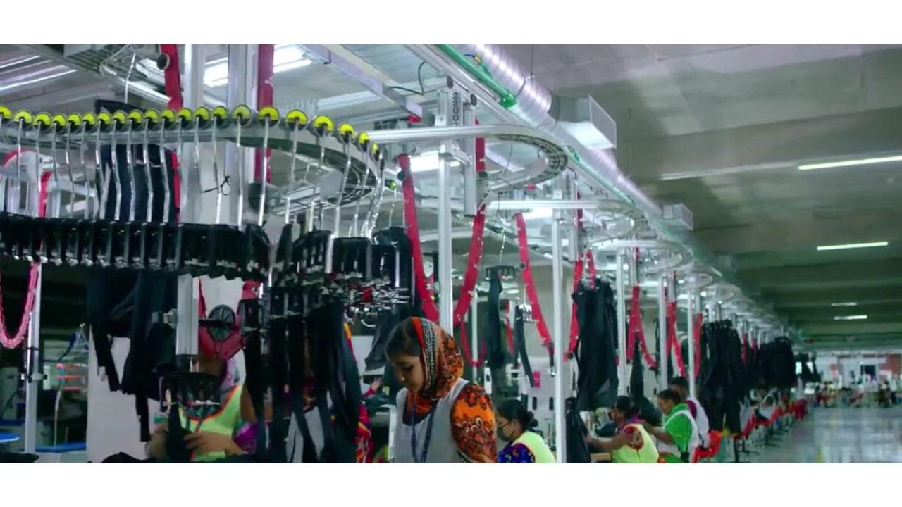 Auto hanger line