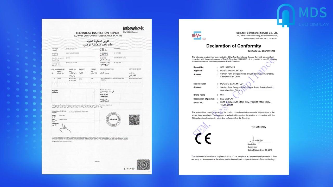 Certificats pertinents