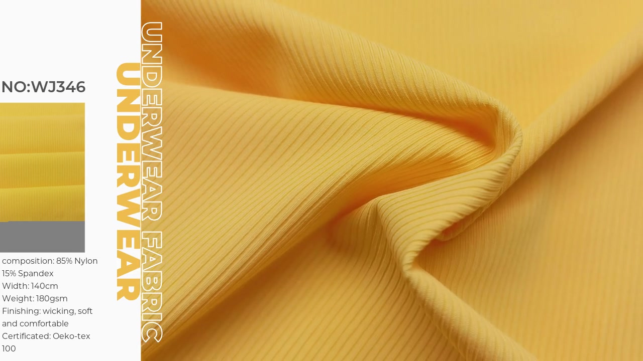 85%Polyamide 15%elastane 2x2 rib fabric with low moq