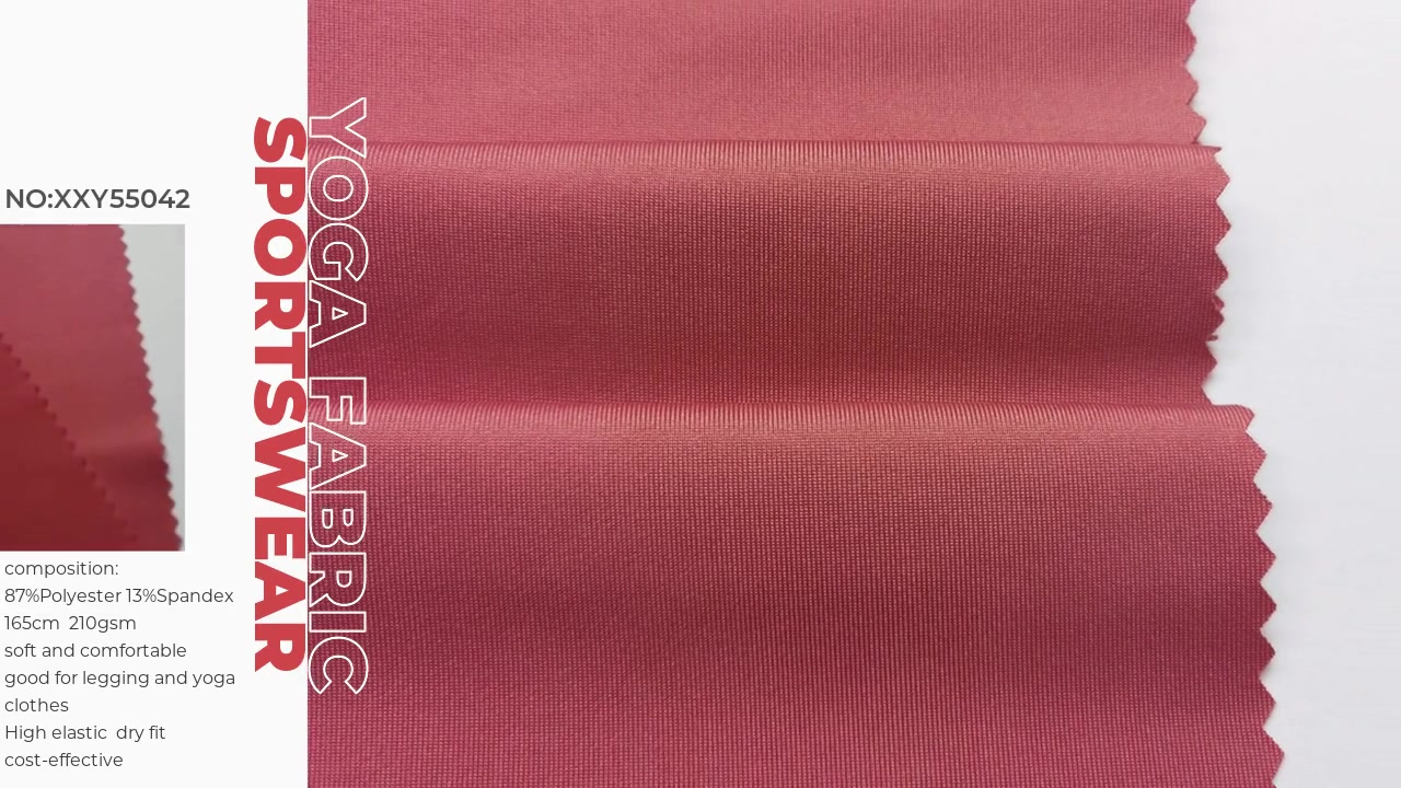 Xinxingya Dry Fit Polyester-Stoff für Legging- und Yoga-Kleidung, der die Coolmax-Behandlung ableitet