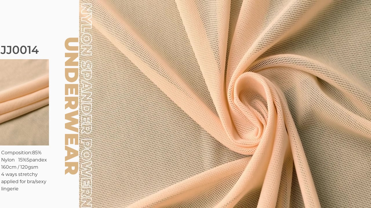 Xinxingya pakaian dalam kain nilon spandex powernet