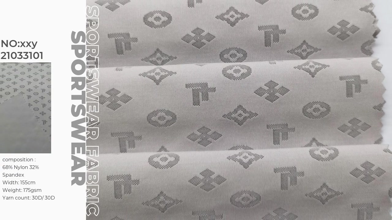 Nylon spandex jacquard fabric Xinxingya supply