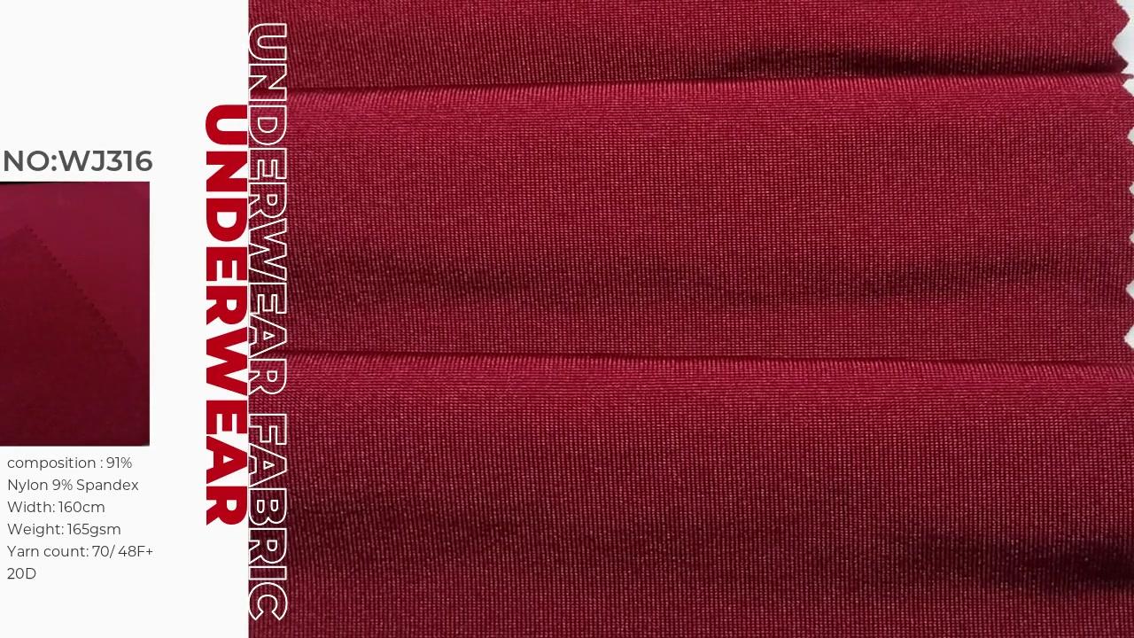 Oeko-tex100 certificado 91% Nylon 9% Spandex Single Jersey 160GSM WJ316 Xinxingya