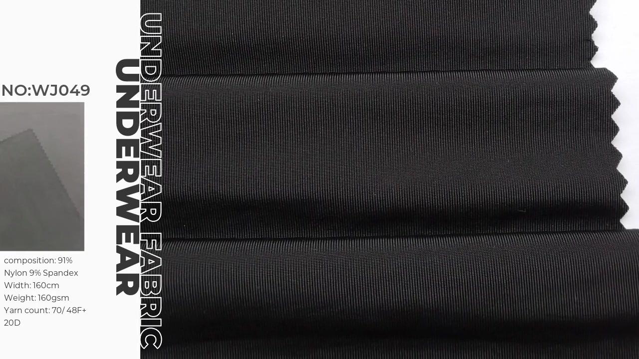Sinis elit superior INTERULUS et panties polyamide spandex Jersey fabricae WJ078 Xinxingya