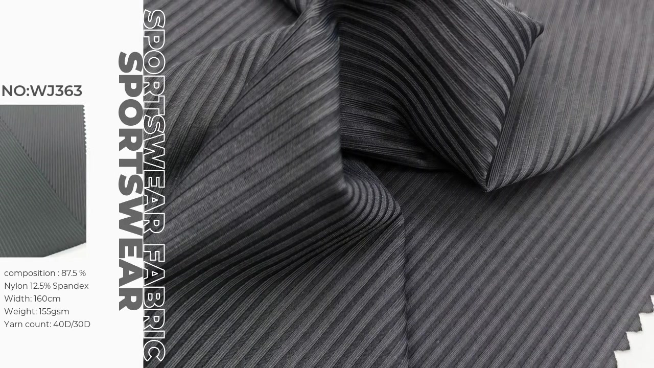 High quality full dull drop needle rib fabric  80%nylon 20%spandex XXY WJ363