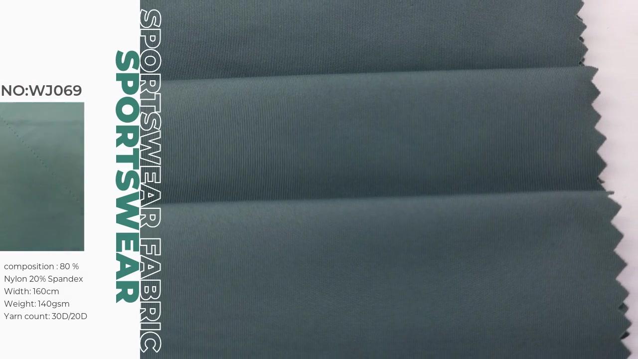Oeko-tex100 eco friendly double jersey for active wear 80%nylon 20%spandex XXY WJ069
