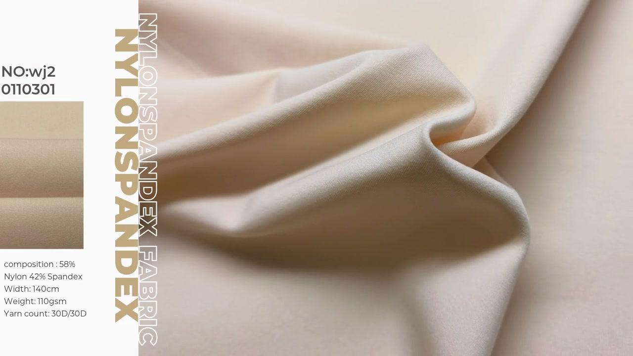 Tela de ropa interior suave y alta de estrategia 58% Nylon 42% Spandex XXY WJ20110301