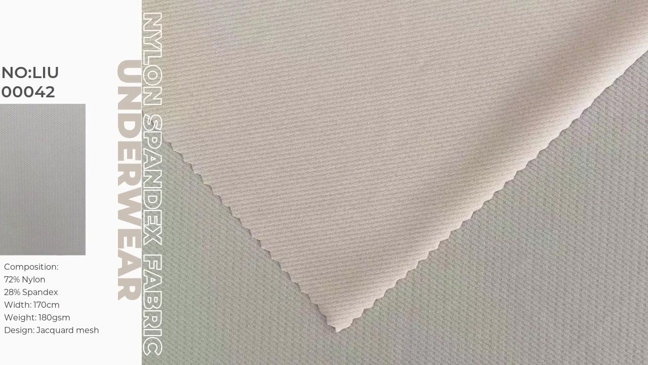 Nylon Spandex Jacquard Mesh Jersey Ganda Untuk Bra Atur Intim dan Celana