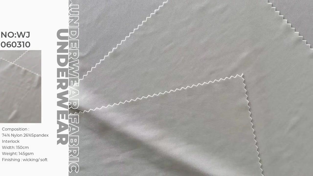 Polyamide spandex inetlock nylon spandex đôi áo cho áo ngực