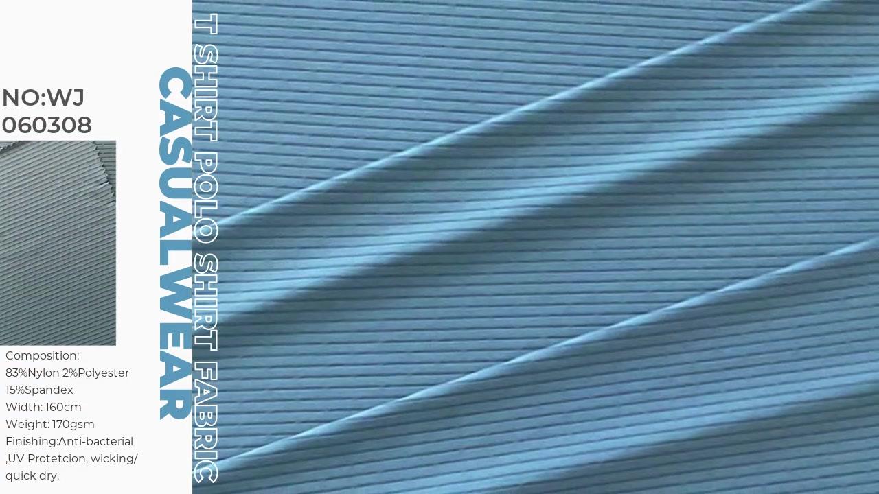 Nylon Spandex Mesh Jersey Jersey Jacquard pour vêtements pour hommes