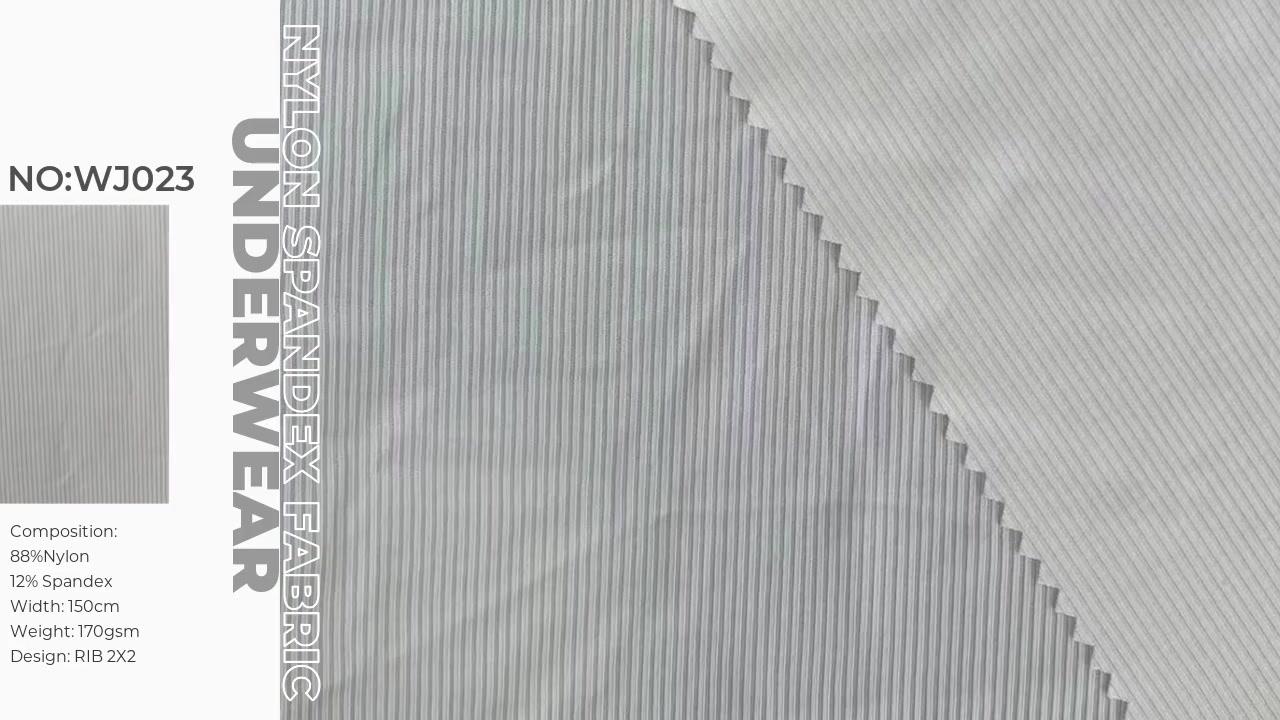 Nylon Spandex rib 2x2  for sexy underwear