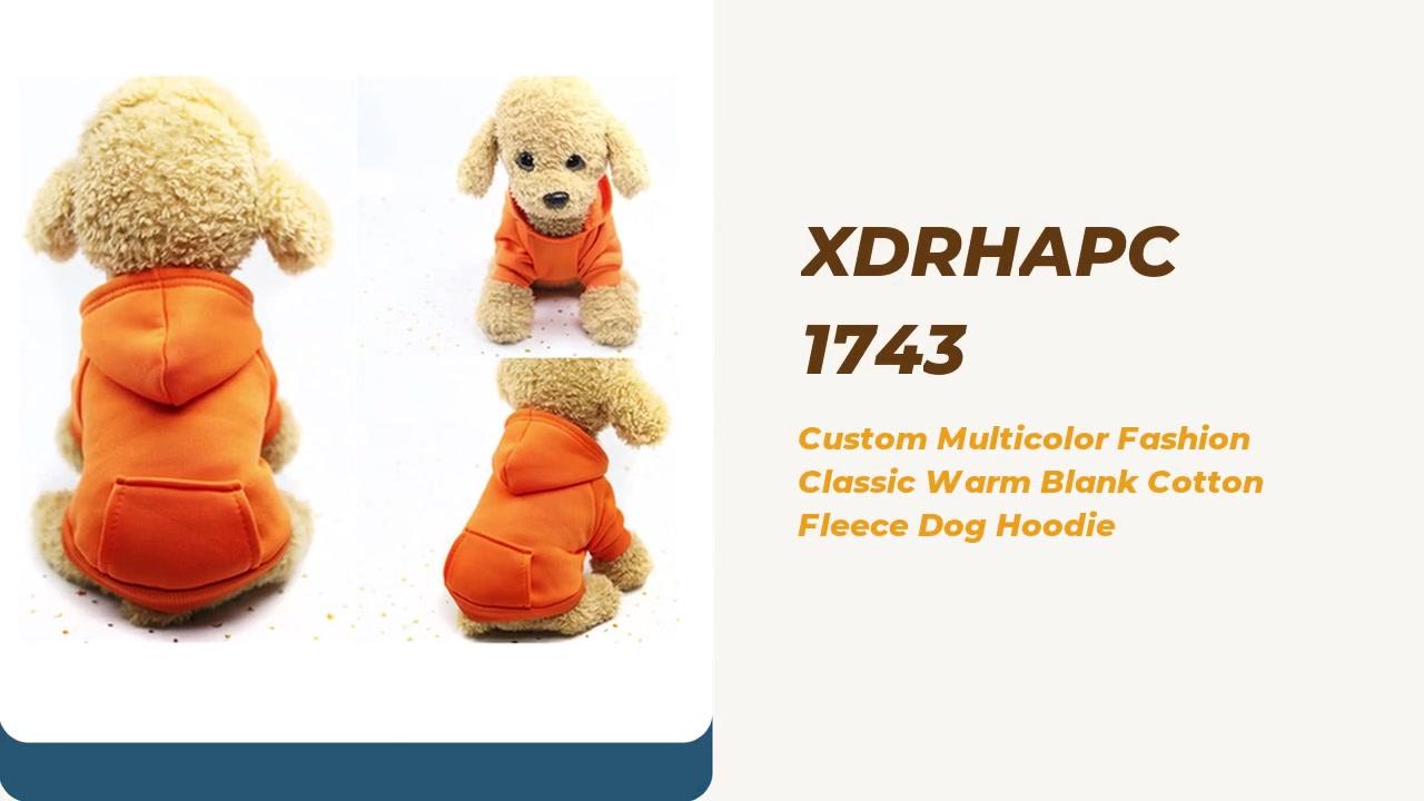 Custom Multicolor Fashion Classic Warm Blank Cotton Fleece Dog Hoodie