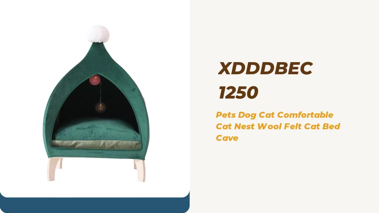 Mejor mascotas perro gato cómodo nido de lana fieltro cueva cueva