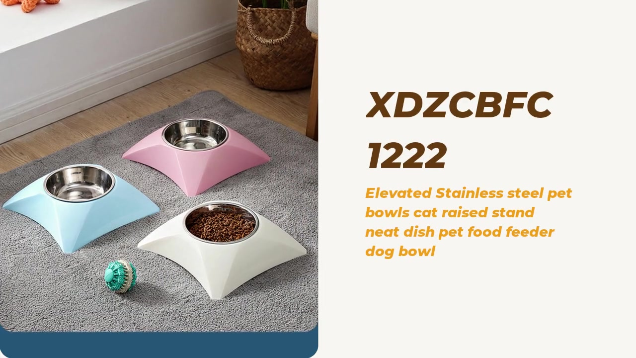 Elevated Stainless Steel Pet Bowls Cat Raised Stand Neat Dish Pet Food Feeder Dog Bowl