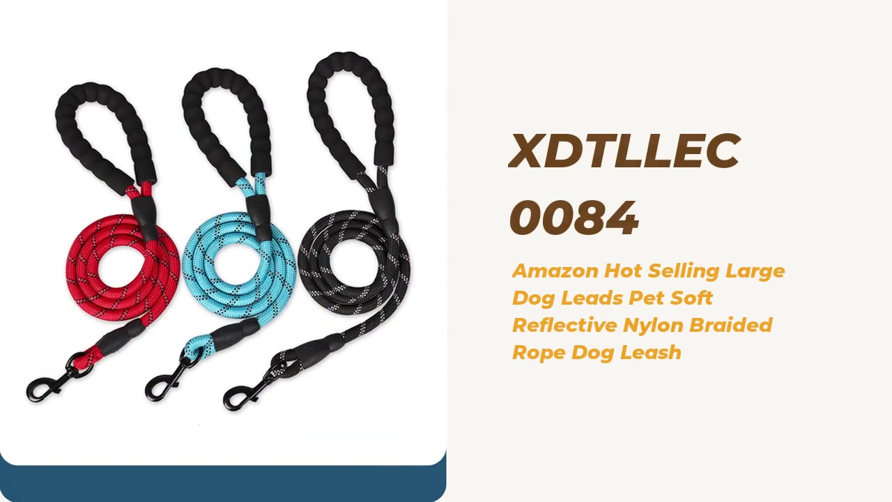 Las mejores ventas calientes que venden liderazos grandes para mascotas suave reflectante nylon correa trenzado correa proveedor