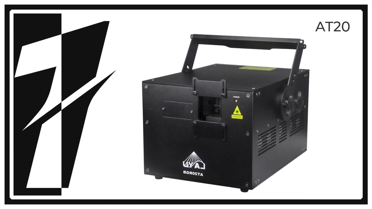 Proyector de luz láser profesional 20W RGB para eventos al aire libre Mapeo láser