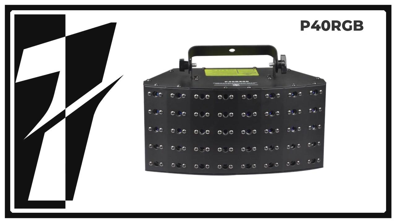 Layu P40RGB 40 ลำแสงเลเซอร์อาร์เรย์สำหรับสโมสร, ดีเจมือถือ, การแสดงเลเซอร์, ฯลฯ