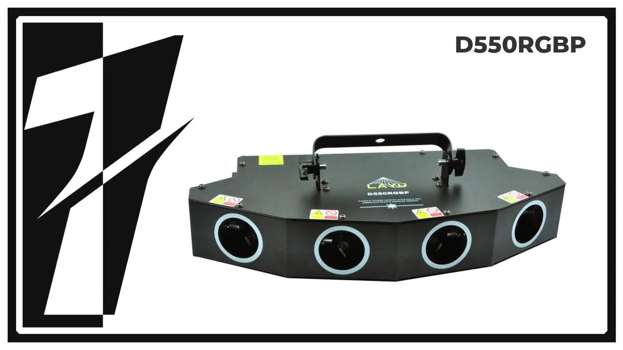 LAYU D550RGBP 4 Head RGBP DJ Club Laserlicht
