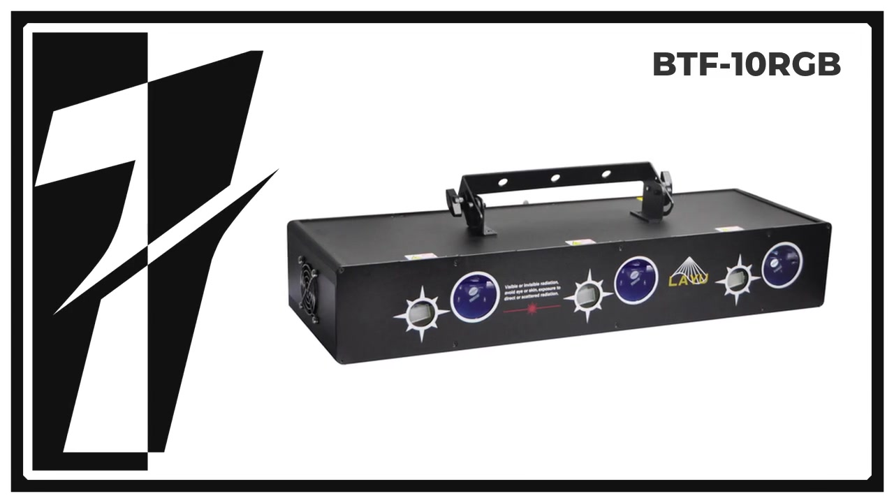 Layu BTF-10RGB 6 Head RGB Beam dan Starry Effect Laser Light