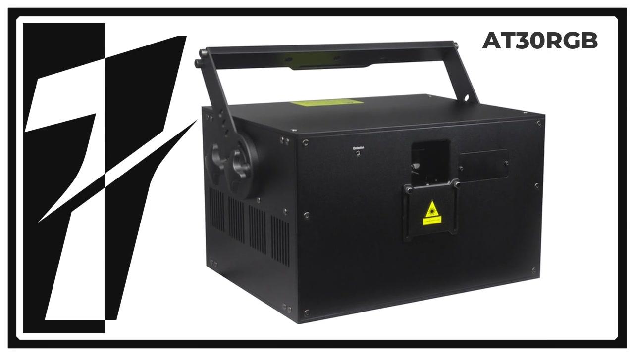 屋外レーザーショーイベントのためのLAYU 30W RGBレーザー光プロジェクター