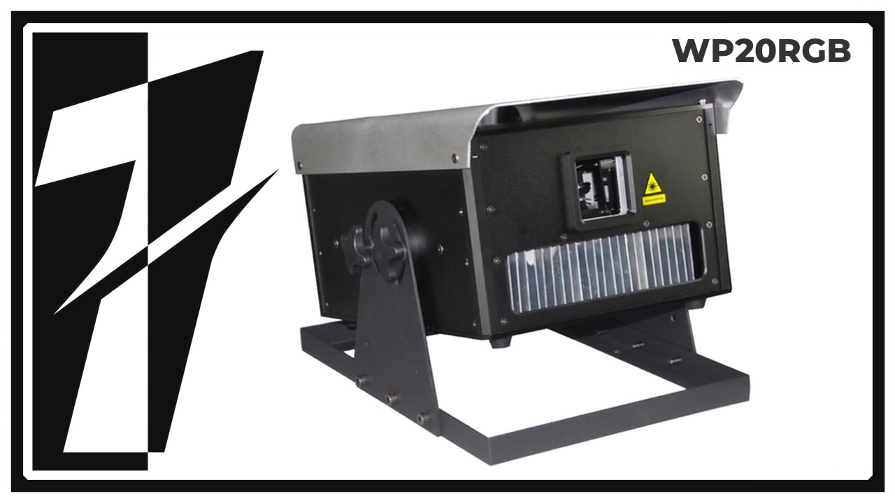 LAYU WP20RGB outdoor 20 watt RGB laser projector for text,logo,graphic projection