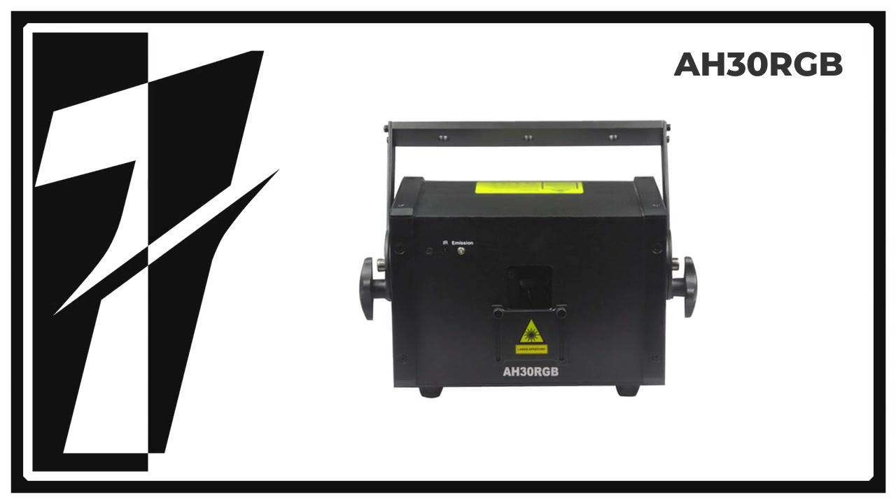 Layu AH30RGB 3W RGB ضوئي ليزر إضاءة ديود كامل.