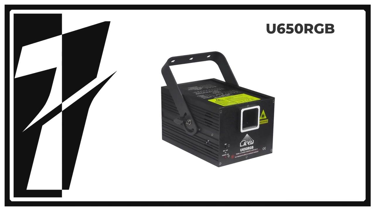 Layu U650RGB 4 efeitos em 1 projetor de luz laser