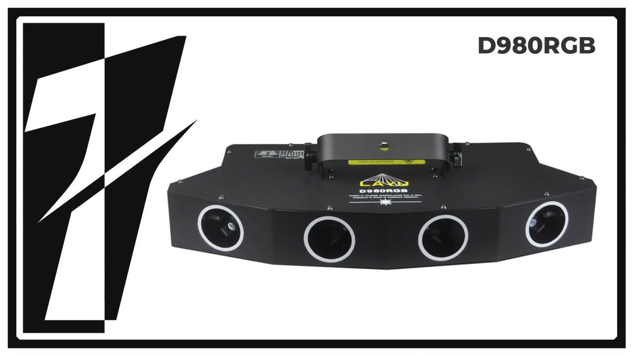 Layu D980RGB 4 Kafa Büyük Tarama Alanı ile Çok Renkli Lazer