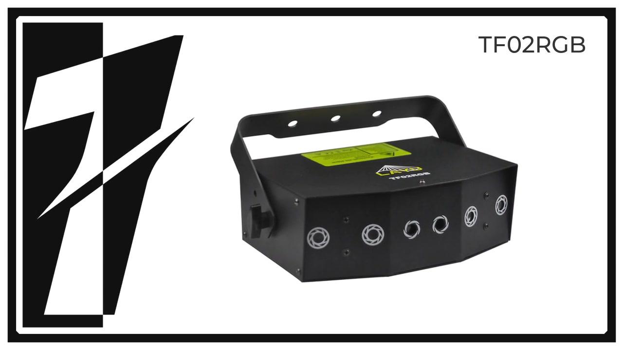 LAYU TF02RGB 6 Aperture Strahl- und Gittermuster-Laserprojektor
