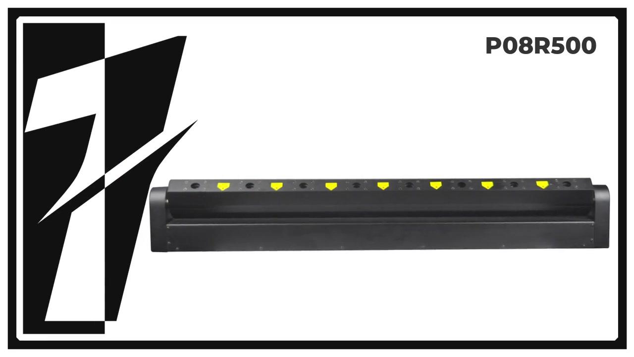 Layu p08r500 8 cabeça laser bar com cabeça em movimento