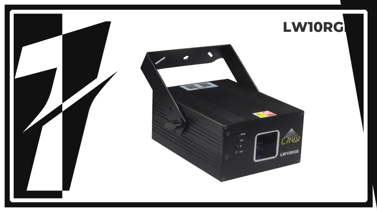 LAYU LW10RGB text laser projector with keyboard input