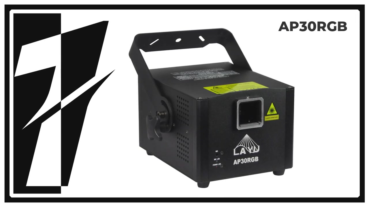 LAYU AP30RGB 1.5W RGB animation laser light projector