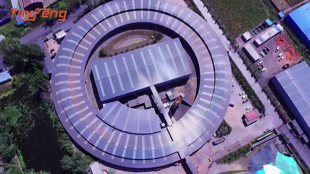 Projet de four rotatif Yingfeng VP120 en Afrique du Sud
