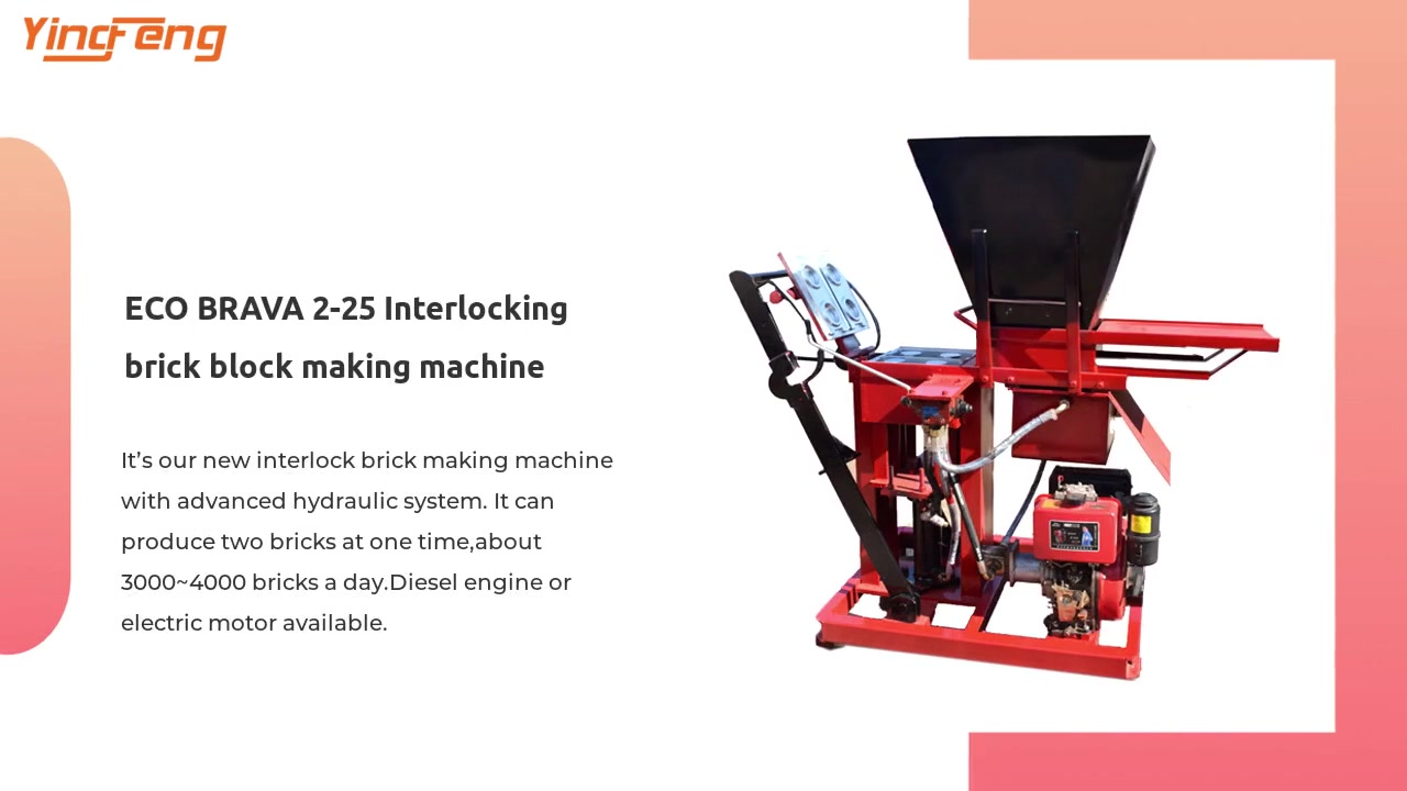ECO BRAVA 2-25 Interlocking brick block making machine