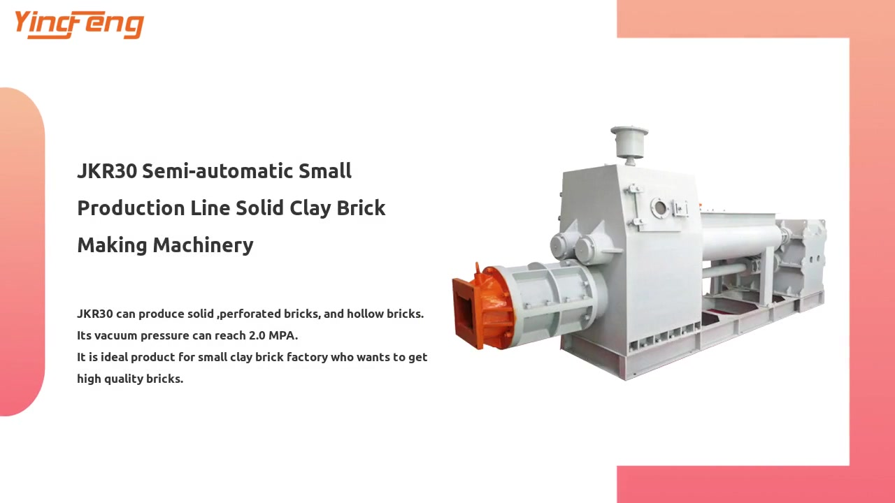 JKR30 Semi-automatic Small Production Line Solid Clay Brick Making Machinery