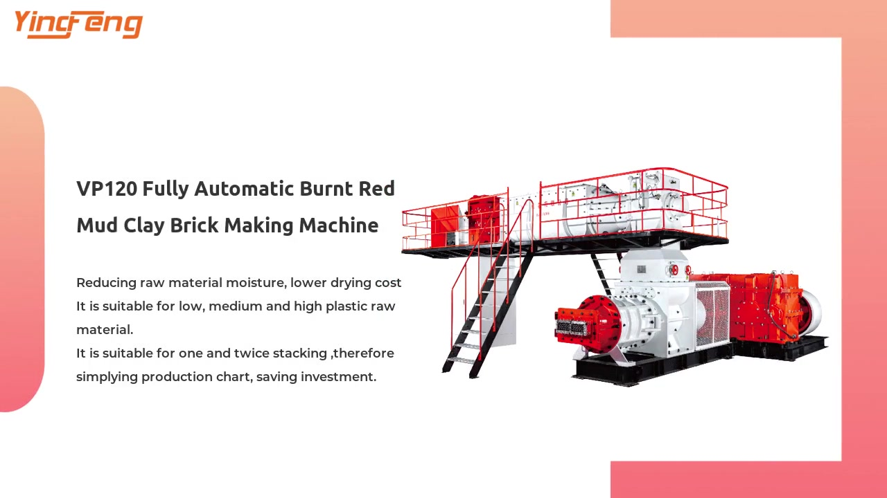 VP120 Fully Automatic Burnt Red Mud Clay Brick Making Machine