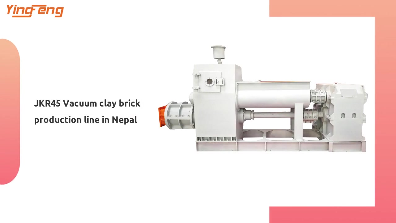 JKR45 Vacuum clay brick production line in Nepal