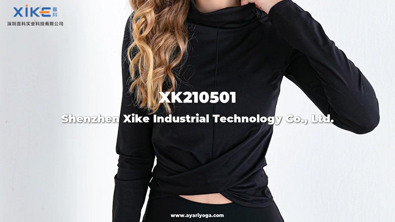 ODM 여성의 스포츠 및 레저 티셔츠 여성용 피트니스 스포츠 긴팔 탑 사용자 정의 도매 공장 가격 - Xike