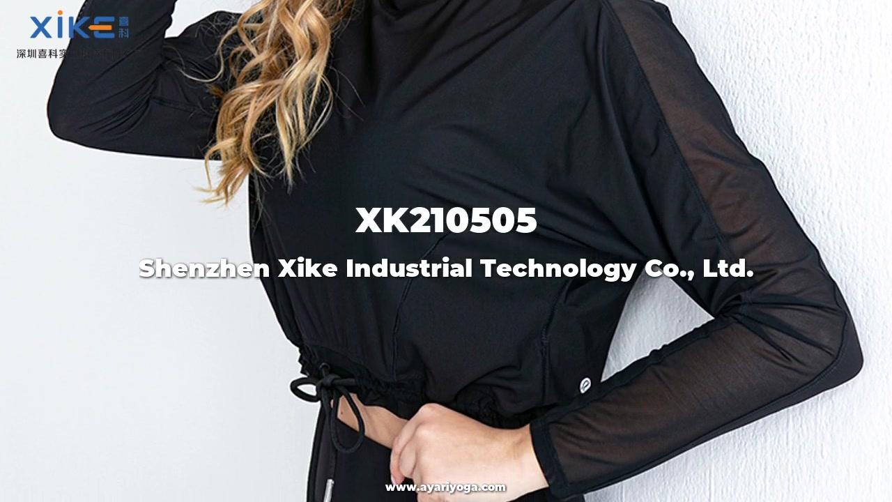 Bästa kvalitet Xike Women's Long-Sleeved T-shirt Toppar Blus och Yoga Kläder Anpassad Partihandel Fabrik