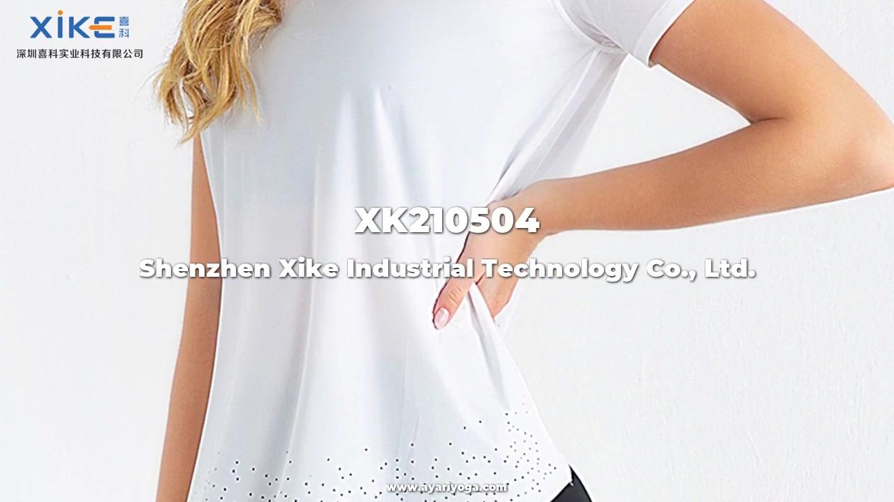 Anpassad Xike Women's Short-Sleeved T-shirt, topp, blus, Yoga Wear Custom grossist tillverkare från Kina