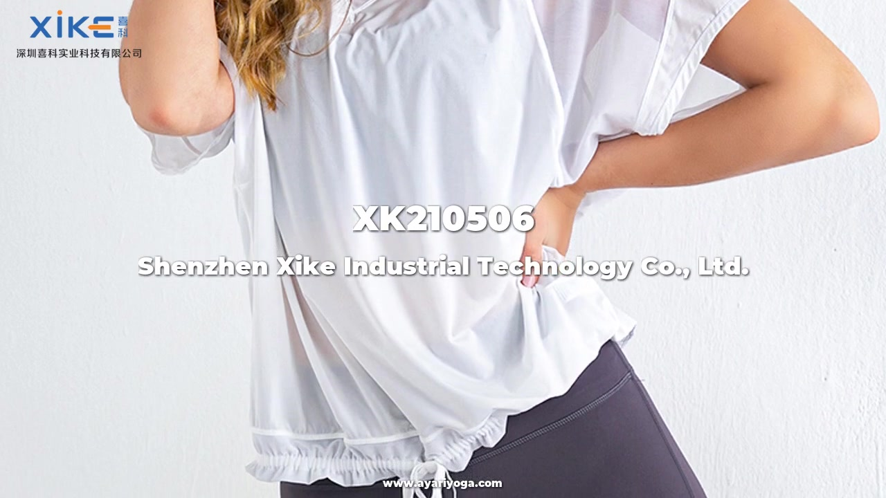 Bästa OEM Kvinnors Kortärmad T-shirt, Top, Blus, Yoga Wear Custom Partiesale Company - Xike
